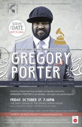 CCAC presents An Evening with Gregory Porter