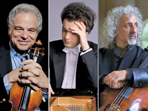 Itzhak Perlman, Evgeny Kissin and Mischa Maisky