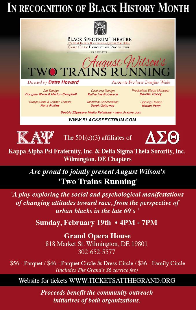 KML & DOEC Present<br>Two Trains Running