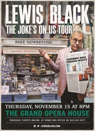 Lewis Black The Joke's On US Tour 2018